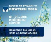 19.-21.04.16: POWTECH 2016 (Deutschland, Nürnberg)